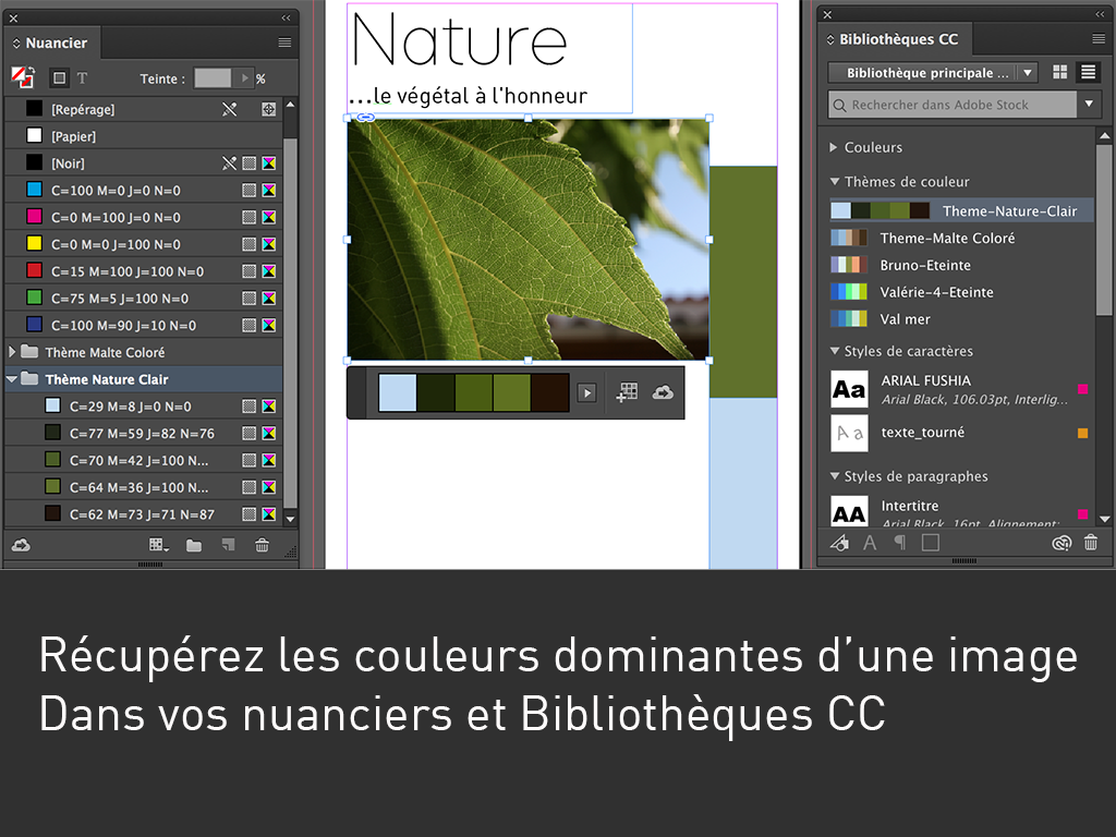 Formation Bruno Cammareri Indesign Nice PAO couleur